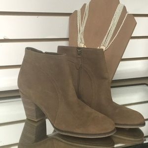 "Franco Sarto tan suede booties size 9 ""disco"""